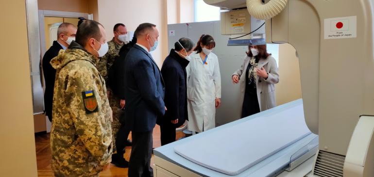 Ірпінський госпіталь отримав від уряду Японії рентген-апарат